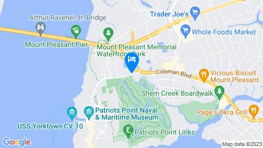 Comfort Inn & Suites Patriots Point Map