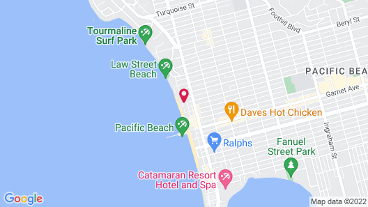 Pacific Terrace Hotel Map