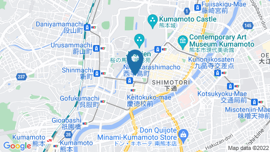 Hotel Trusty Premier Kumamoto Map
