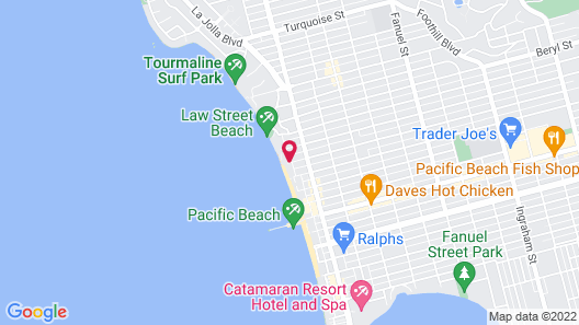Capri by the Sea by All Seasons Resort Lodging Map