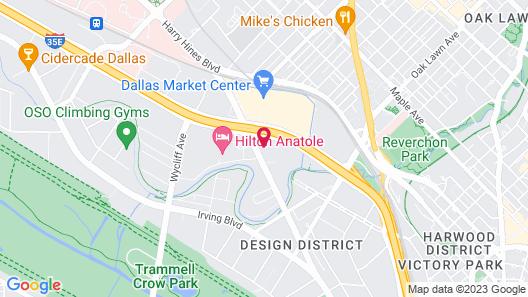 Sheraton Suites Market Center Dallas Map