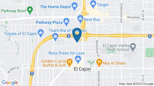 Motel 6 El Cajon, CA - San Diego Map