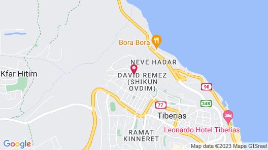 King Solomon Hotel Tiberias Map