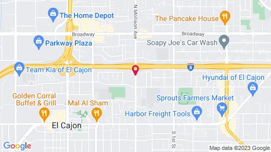 Valley Motel El Cajon Map