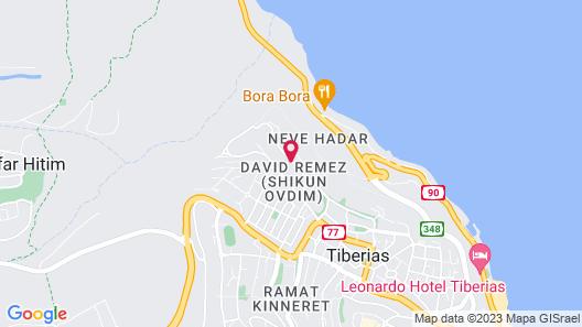 Club Hotel Tiberias Map