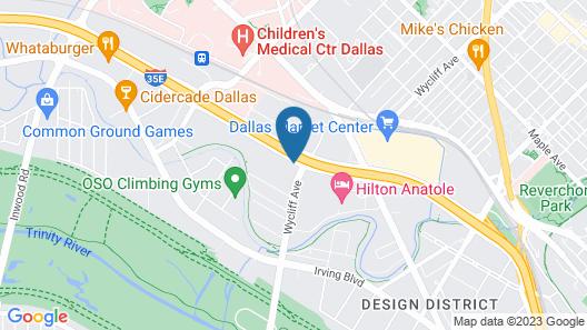 Hilton Garden Inn Dallas/Market Center Map