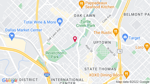 Rosewood Mansion on Turtle Creek Map