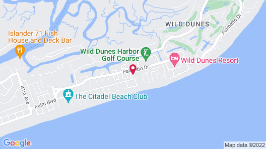 Vacation Rentals at Wild Dunes Resort Map