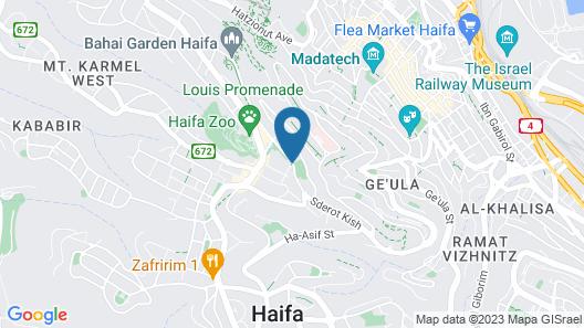 Mirabelle Plaza Haifa by Dan Hotels Map