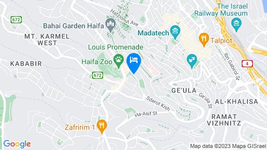 Rothschild Luxury Apartment Beautiful View Haifa Israel Map