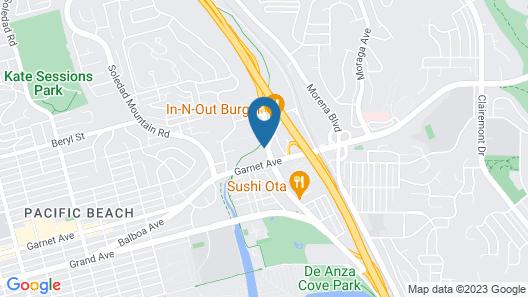 motel san diego Map