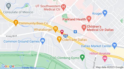 Embassy Suites Hotel Dallas Market Center Map