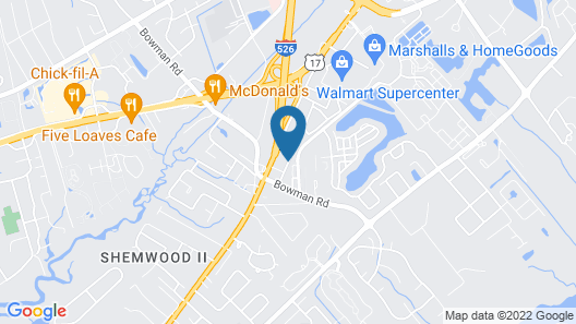 DoubleTree by Hilton Charleston Mount Pleasant Map