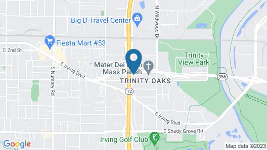Motel 6 Irving, TX - Dallas Map
