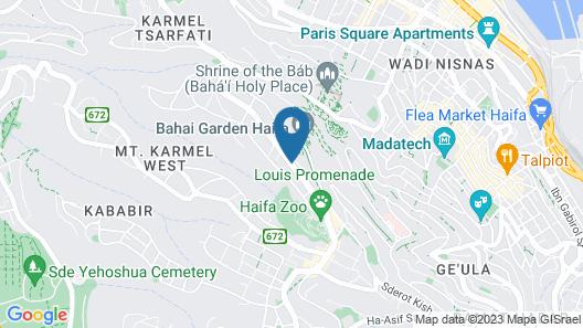 The Dan Carmel Hotel Map