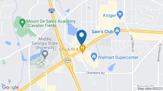 Hampton Inn & Suites Macon I-475 Map
