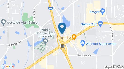 WoodSpring Suites Macon West I-475 Map