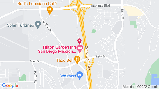 Extended Stay America Suites San Diego Mission Valley Stadiu Map