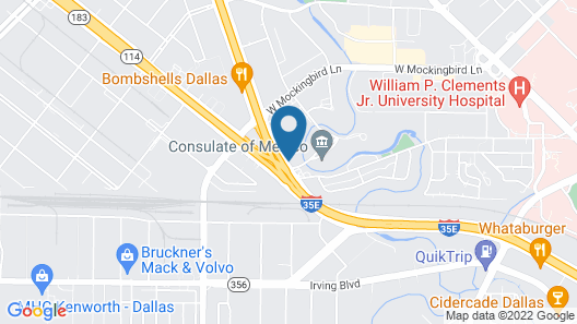 Crowne Plaza Dallas Market Center, an IHG Hotel Map