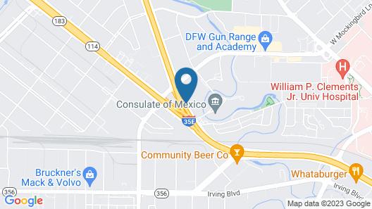 Comfort Inn & Suites Love Field - Dallas Market Center Map