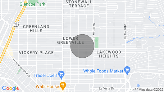 Centered IN Lower Greenville Ave., Near Lakewood, Area Transit, Downtown Dallas Map