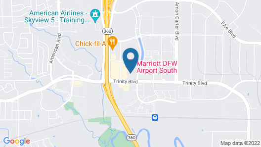 Marriott DFW Airport South Map