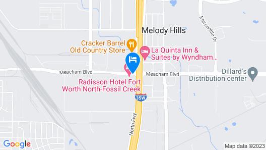 Radisson Hotel Fort Worth-Fossil Creek Map