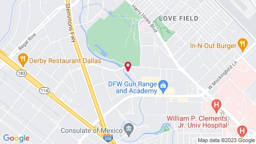 Dallas Love Field Inn Map