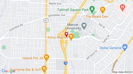 Hilton Garden Inn Macon/Mercer University Map