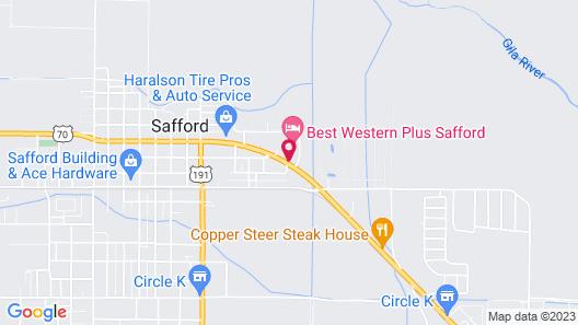 Safford Inn & Suites Map