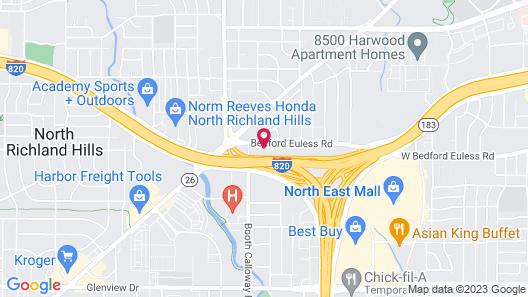 Motel 6 North Richland Hills, TX Map