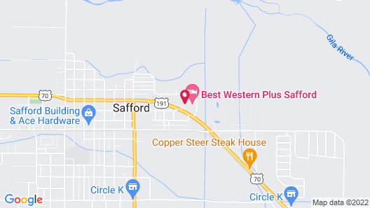 Quality Inn & Suites Safford - Mt Graham Map
