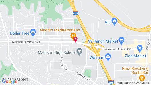 California Suites Hotel Map