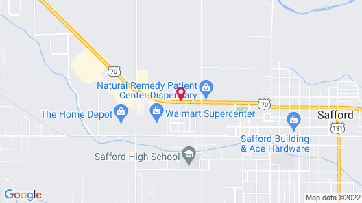 Motel 6 Safford, AZ Map