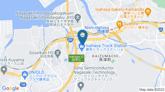 Hotel Route-Inn Isahaya Inter Map