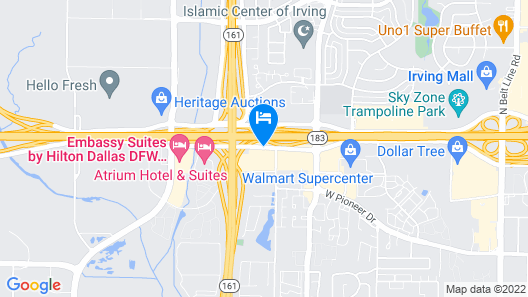 DFW Airport Hotel and Conference Center Map