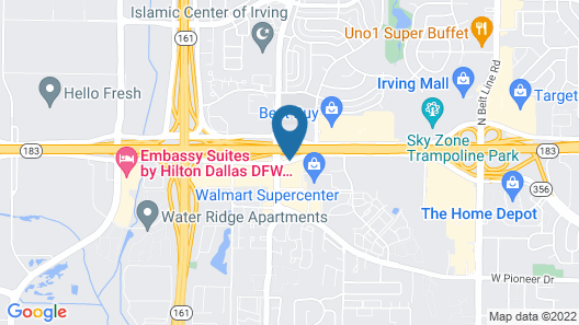 Best Western Irving Inn & Suites at DFW Airport Map