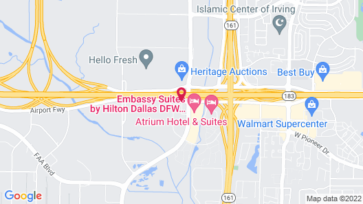 Quality Inn & Suites DFW Airport South Map
