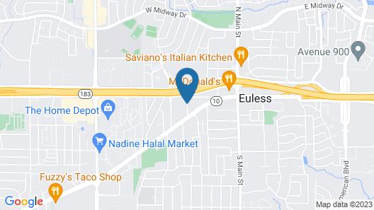 La Quinta Inn & Suites by Wyndham DFW Airport West - Euless Map