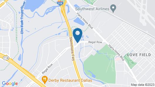 Motel 6 Dallas, TX - Market Center Map