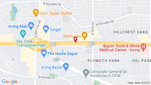 OYO Hotel Irving DFW Airport South Map