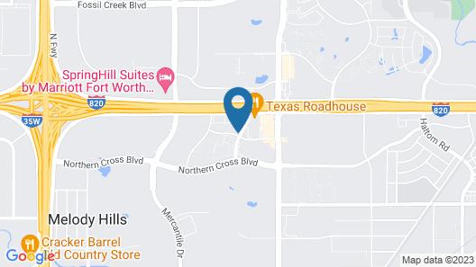 Sonesta Simply Suites Fort Worth Map