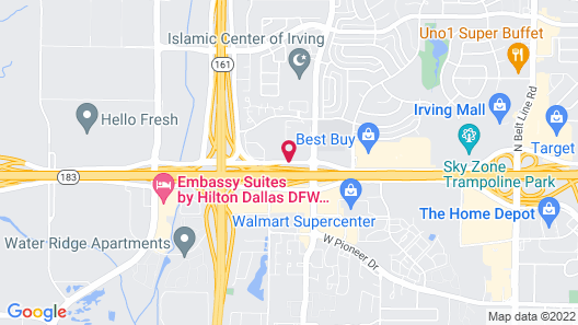 Super 8 by Wyndham Irving DFW Airport/South Map