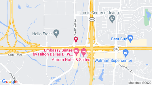 Residence Inn Dallas DFW Airport South/Irving Map