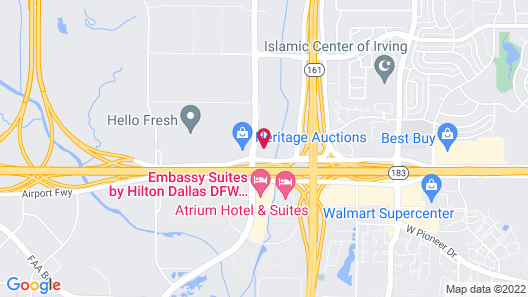 Courtyard by Marriott Dallas DFW Airport South/Irving Map
