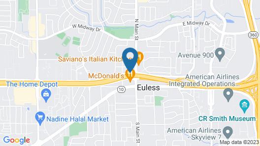 Motel 6 Euless, TX - Dallas Map