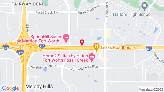 WoodSpring Suites Fort Worth Fossil Creek Map