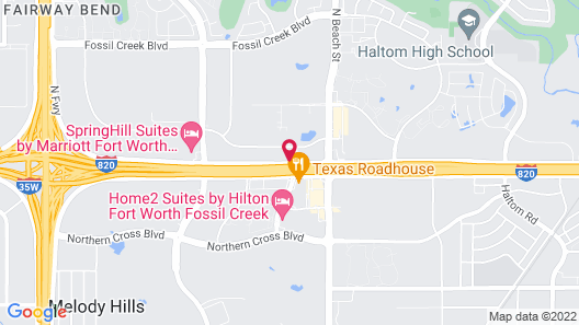 Sonesta Select Fort Worth Fossil Creek Map