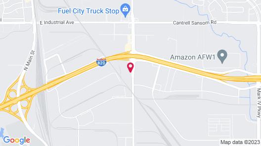 Motel 6 Fort Worth, TX - Fort Worth Saginaw Map