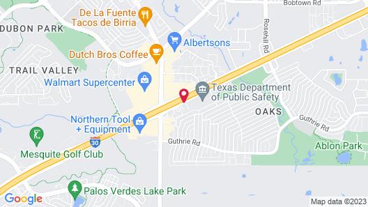 Motel 6 Garland, TX - Dallas Map